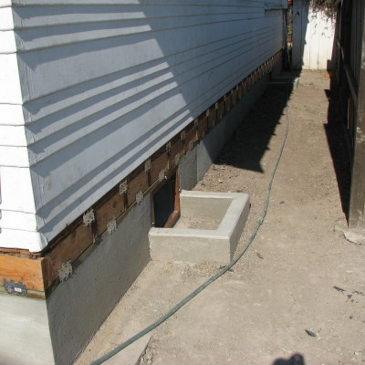 Stemwall-poured and ready for siding
