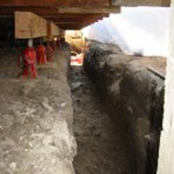 Stemwall excavated